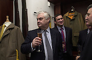Norman Lamont and Paul Fincken. . Gunmaker's Boss and Co's launch party new Mayfair premises. Mount St. London. 12 December 2000. © Copyright Photograph by Dafydd Jones 66 Stockwell Park Rd. London SW9 0DA Tel 020 7733 0108 www.dafjones.com