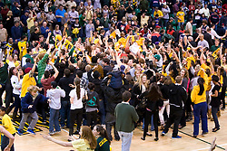 January 30, 2010; San Francisco, CA, USA;  The San Francisco Dons celebrate after the game against the Gonzaga Bulldogs at the War Memorial Gym.  San Francisco defeated Gonzaga 81-77 in overtime.