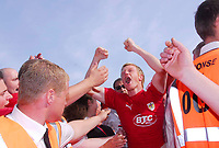Photo: Leigh Quinnell.<br /> Bristol City v Rotherham United. Coca Cola League 1. 05/05/2007. Brsitol Citys Andy Smith celebrates promotion to the championship.