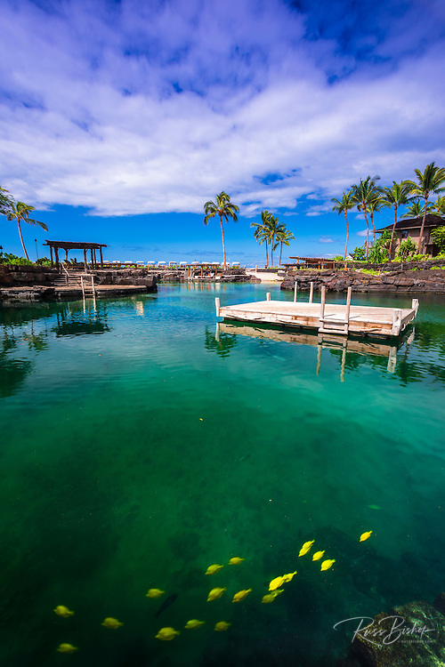 Swimming lagoon at the Four Seasons Hualalai, Kohala Coast, Hawaii USA