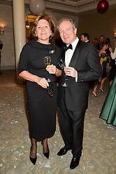 Former tennis player OLGA MOROZOVA and GEORGES DE KEERLE  at the Gift of Life Old Russian New Year's Eve charity gala held at The Savoy Hotel, London on 13th January 2016.