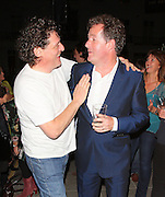 10.OCTOBER.2011. LONDON<br /> <br /> MARCO PIERRE WHITE AND PIERS MORGAN AT THE RE-OPENING LAUNCH PARTY OF THE KENSINGTON PUB THE HANSOM CAB IN LONDON JOINTLY OWNED BY MARCO PIERRE WHITE AND PIERS MORGAN.<br /> <br /> BYLINE: EDBIMAGEARCHIVE.COM<br /> <br /> *THIS IMAGE IS STRICTLY FOR UK NEWSPAPERS AND MAGAZINES ONLY*<br /> *FOR WORLD WIDE SALES AND WEB USE PLEASE CONTACT EDBIMAGEARCHIVE - 0208 954 5968*