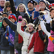 Children from Sandy Hook Elementary School react to seeing themselves on the big screen as they form a guard of honor for the New York Giants before the start of the game. Sandy Hook Elementary School students, parents and faculty were honored by the Giants during a pre-game ceremony before the New York Giants V Philadelphia Eagles NFL American Football match at MetLife Stadium, East Rutherford, NJ, USA. 30th December 2012. Photo Tim Clayton