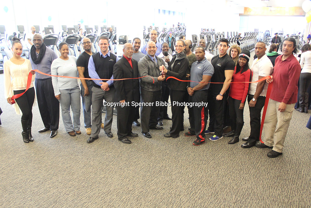 LA Fitness celebrated its grand opening Saturday with at Ribbon Cutting Ceremony.<br /> <br /> Millie Warsop, Zenzile Powell of ZBerry, Trez V. Pugh III, Danny Knowles, Hyde Park Chamber of Commerce Executive Director, Wallace Goode, Allan Williams, Jason Santos, Meredith Kearns, Andrew Stevens, Jimmy Hendricks of Hyde Park Radio, Kayla Willis, Itzu J. Mitchel, Amy