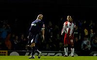 Photo: Alan Crowhurst.<br />Southend United v Southampton. Coca Cola Championship. 09/12/2006. Southend's Alan McCormack (L) celebrates his goal 2-0.