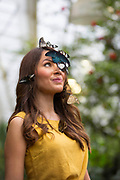 UNITED KINGDOM, Woking: 12 January 2018 Model Jessie Baker gets up close and personal with a selection of butterflies at the new and spectacular 'Butterflies in the Glasshouse' exhibit at the RHS Garden Wisley this morning. The exhibit runs from 13 January - 4th of march 2018. Rick Findler / Story Picture Agency