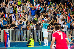 Alen Fetic of Slovenia celebrate during futsal match between Slovenia and Serbia at Day 1 of UEFA Futsal EURO 2018, on January 30, 2018 in Arena Stozice, Ljubljana, Slovenia. Photo by Ziga Zupan / Sportida