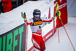 17.02.2019, Aare, SWE, FIS Weltmeisterschaften Ski Alpin, Slalom, Herren, 2. Lauf, im Bild Manuel Feller (AUT) // Manuel Feller of Austria reacts after his 2nd run of men's Slalom of FIS Ski World Championships 2019. Aare, Sweden on 2019/02/17. EXPA Pictures © 2019, PhotoCredit: EXPA/ Johann Groder
