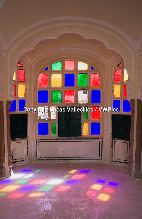 Interior of Hawa Mahal (Palace of Winds). Jaipur. Rajasthan, India