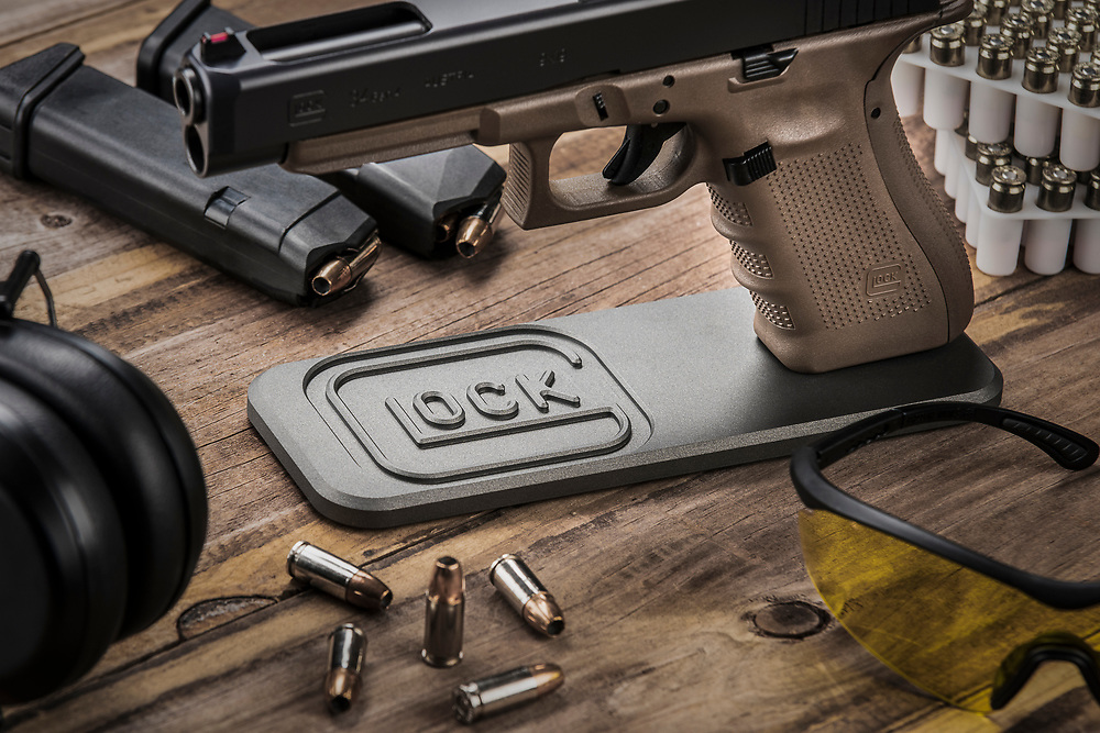 You'll find this beautifully designed Glock Stand from HP Tactical at www.hp-tactical.com. Photography by Jeffrey A McDonald