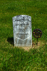 Hittle Grove Cemetery near Armington in Tazwell County.<br /> <br /> Geo. Missinger Co. C 15 MO INF