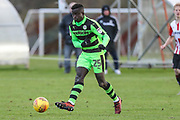 Forest Green Rovers Toni Gomez(25) passes the ball during the The Central League match between Cheltenham Town Reserves and Forest Green Rovers Reserves at The Energy Check Training Ground, Cheltenham, United Kingdom on 28 November 2017. Photo by Shane Healey.