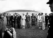 King Juan Carlos and Queen Sofia of Spain visit the burial mound of Newgrange as part of their state visit to Ireland.<br />