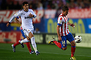 MADRID, SPAIN - APRIL 27: Gabi Fernandez of Club Atletico de Madrid in action during the Liga BBVA between Club Atletico de Madrid and Real Madrid CF at the Vicente Calderon stadium on April 27, 2013 in Madrid, Spain. (Photo by Aitor Alcalde Colomer).