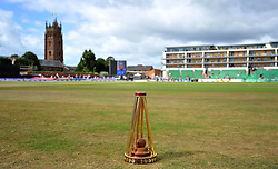 The Ahes trophy on display prior to the start. - Photo mandatory by-line: Harry Trump/JMP - Mobile: 07966 386802 - 21/07/15 - SPORT - CRICKET - Women's Ashes - Royal London ODI - England Women v Australia Women - The County Ground, Taunton, England.