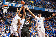 Dakari Johnson. Marcus Lee.<br /> <br /> The University of Kentucky men's basketball team beat Texas 63-51in Lexington's Rupp Arena on Friday, December 5, 2014.<br /> <br /> Photo by Elliott Hess | UK Athletics