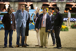 Aloe Blacc and Santiago Varela, course builder<br /> Final competiton<br /> Furusiyya FEI Nations Cup™ Final - Barcelona 2014<br /> © Dirk Caremans<br /> 11/10/14