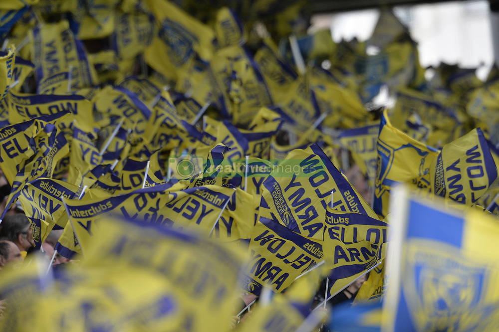 April 1, 2018 - Clermont Ferrand - Stade Marcel, France - Drapeaux des supporters  (Credit Image: © Panoramic via ZUMA Press)