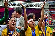 BRASÍLIA, DF, 22.12.2013 – FINAL DO TORNEIO INTERNACIONAL DE BRASÍLIA – BRASIL vs CHILE (Futebol Feminino) – Marta da Seleção Brasileira campeã do Torneio Internacional de Brasília, no Estádio Mané Garrincha em Brasília, neste domingo, 22. (Foto: Ricardo Botelho / Brazil Photo Press).