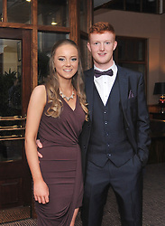 Zoe Bourke and Chris Heanue pictured at the Kilmeena Gaa Club Valentine's dinner dance at the Westport Woods Hotel on saturday night last.<br />Pic Conor McKeown