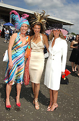 Left to right, COZMO JENKS, ANNABEL CROFT and CHANEL BURKE at Ladies Day at Epsom Racecourse, Surrey during the Derby Festival on 3rd June 2005.<br /><br />NON EXCLUSIVE - WORLD RIGHTS