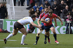 March 11, 2018 - Madrid, Madrid, Spain - Spanish National rugby team Mathieu Belei  in action against Germany during their Men's 2108 Rugby Europe International Championships match Spain vs. Germany at Complutense University's Central pitch in Madrid, Spain, 11 March 2018. (Credit Image: © Oscar Gonzalez/NurPhoto via ZUMA Press)