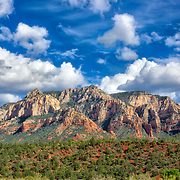 View of Sedona's famous red rocks from a standard room at Best Western Plus Arroyo Roble Hotel.