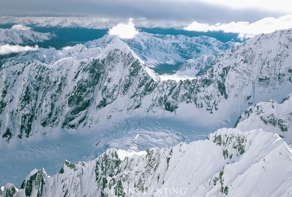 Wrangell Mountains (aerial), Wrangell-St. Elias National Park, Alaska