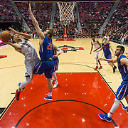 27 February 2018: San Diego State men's basketball hosts Boise State in their last meet up of the regular season at Viejas Arena. San Diego State Aztecs guard Trey Kell (3) goes up for a lay up while being defended by Boise State Broncos guard Casdon Jardine (22) in the second half. The Aztecs beat the Broncos 72-64.  <br /> More game action at sdsuaztecphotos.com