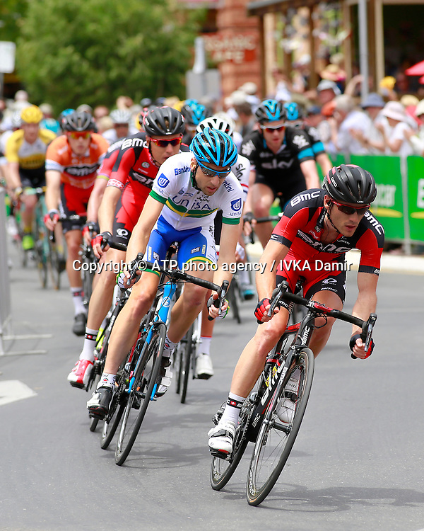 2015 Santos Tour Down Under. Adelaide. Australia. 24.1.2015. Stage  5. Mc Laren Vale to Willunga Hill.151.5km -<br /> Here BMC lead the pack in Willunga.  - Tour Down Under Australia 2015, Cycling, road race, Radrennen, Australien -  Radsport - Rad Rennen -<br /> - fee liable image: copyright &copy; ATP - IVKA Damir