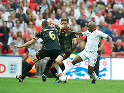 LONDON, ENGLAND - Saturday, June 2, 2012: England's Jermain Defoe in action against Belgium during the International Friendly match at Wembley. (Pic by David Rawcliffe/Propaganda)