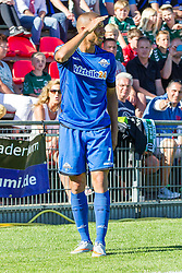 09.08.2015, Stadion Lohmühle, Luebeck, GER, DFB Pokal, VfB Luebeck vs SC Paderborn 07, 1. Runde, im Bild Marcel Ndjeng (Nr. 7, SC Paderborn) // during German DFB Pokal first round match between VfB Luebeck vs SC Paderborn 07 at the Stadion Lohmühle in Luebeck, Germany on 2015/08/09. EXPA Pictures © 2015, PhotoCredit: EXPA/ Eibner-Pressefoto/ KOENIG<br /> <br /> *****ATTENTION - OUT of GER*****