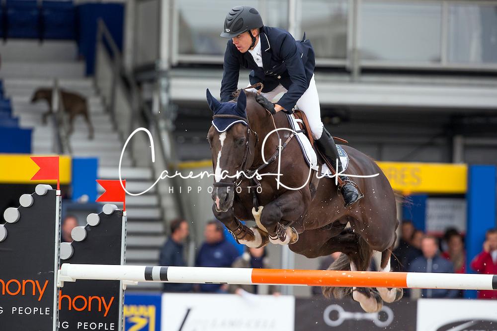 Noterman Dimitri (BEL) - Bacardi Rhum de Muze<br /> Belgium Championship Jumping - Lanaken 2012<br /> &copy; Dirk Caremans