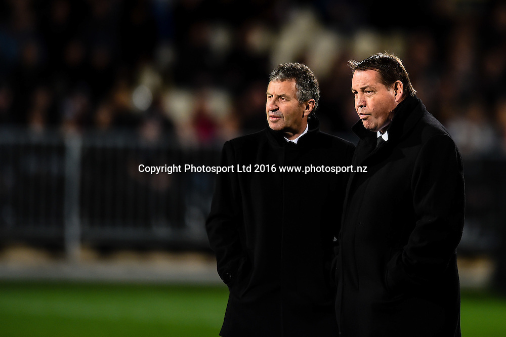 Wanye Smith and Steve Hansen Coach of the All Blacks during the Investec Rugby Championship match, All Blacks v South Africa ,AMI Stadium, Christchurch, New Zealand, 17th September 2016. © Copyright Photo: John Davidson / www.photosport.nz