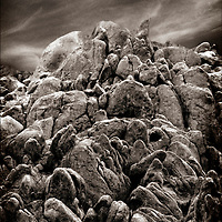 A rock formation in California's Whitney Portal.