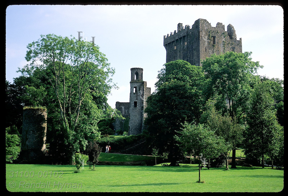 Castle keep (130' tall) & tower are the only remains of Blarney Castle (c 1446) on 400ac estate. Ireland