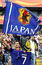17.07.2011, Commerzbankarena, Frankfurt, GER, FIFA Women Worldcup 2011, Finale,  Japan (JPN) vs. USA (USA), im Bild:  .Fan Japan mit Trikot Kozue Ando (Japan / FCR Duisburg).. // during the FIFA Women Worldcup 2011, final, Japan vs USA on 2011/07/11, FIFA Frauen-WM-Stadion Frankfurt, Frankfurt, Germany.   EXPA Pictures © 2011, PhotoCredit: EXPA/ nph/  Mueller       ****** out of GER / CRO  / BEL ******