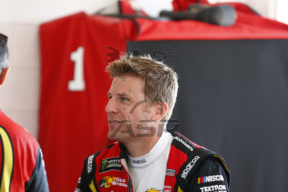 November 18, 2017 - Homestead, Florida, USA: Jamie McMurray (1) hangs out in the garage prior to practice for Ford EcoBoost 400 at Homestead-Miami Speedway in Homestead, Florida.