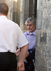 Peter Tobin leaving after the body of Vicky Hamilton was found, at Linlithgow court.<br /> &copy;2007 Michael Schofield. All Rights Reserved.