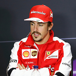 FORMULA 1 SANTANDER BRITISH GRAND PRIX Fernando Alonso at press conference......(c) STEPHEN LAWSON | SportPix.org.uk