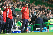Dundee manager Paul Hartley - Celtic v Dundee in the Ladbrokes Scottish Premiership at Celtic Park, Glasgow. Photo: David Young<br /> <br />  - © David Young - www.davidyoungphoto.co.uk - email: davidyoungphoto@gmail.com