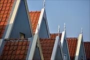 Nederland, Urk, 19-2-2015 Zicht op de oude haven van dit voormalig eiland. Typische bouwstijl van de gevels. architectuurFoto: Flip Franssen/Hollandse Hoogte