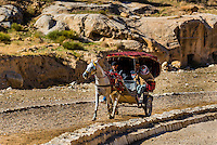 Horse drawn carriage, Petra archaeological site (a UNESCO world heritage site), Jordan.