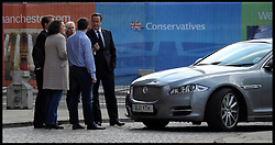 The Prime Minister David Cameron arrives at the Conference Hotel after being on the Andrew Marr Show at  The Conservative Party Conference in Manchester, United Kingdom. Sunday, 29th September 2013. Picture by Andrew Parsons / i-Images