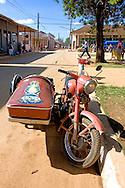 Motorcycle in Guira de Melena, Artemisa, Cuba.