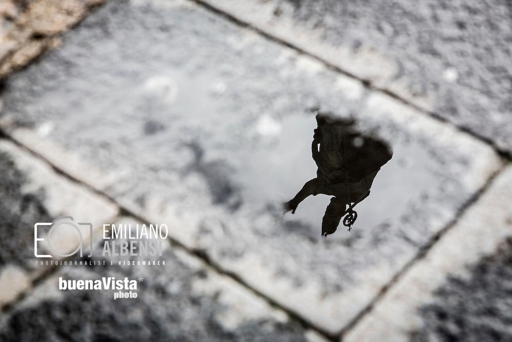 Emiliano Albensi<br /> 20/01/2017 Lecce (LE)<br /> Lecce<br /> Nella foto: la statua di Sant'Oronzo<br /> <br /> Emiliano Albensi<br /> 20/01/2017 Lecce<br /> Lecce<br /> In the picture: the statue of Saint Orontius