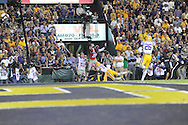 Mississippi wide receiver Cody Core (88) scores a touchdown against LSU defensive back Rashard Robinson (21) during the first half at Tiger Stadium in Baton Rouge, La. on Saturday, October 25, 2014.