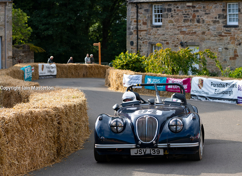 Boness Revival hillclimb motorsport event in Boness, Scotland, UK. The 2019 Bo'ness Revival Classic and Hillclimb, Scotland's first purpose-built motorsport venue, it marked 60 years since double Formula 1 World Champion Jim Clark competed here.  It took place Saturday 31 August and Sunday 1 September 2019. 94 Anthony Taylor. Aristocat Sports