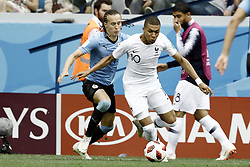 July 6, 2018 - Nizhny Novgorod, Russia - Kylian Mbappe during 2018 FIFA World Cup Russia Quarter Final match between Uruguay and France at Nizhny Novgorod Stadium on July 6, 2018 in Nizhny Novgorod, Russia. (Credit Image: © Mehdi Taamallah/NurPhoto via ZUMA Press)