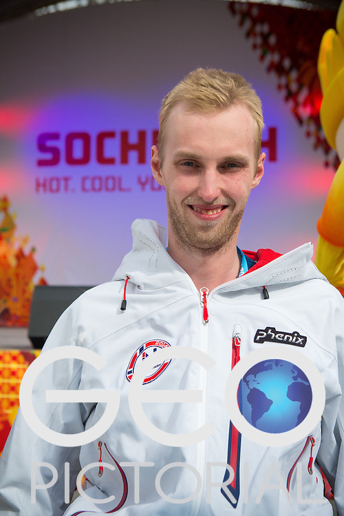 Kjell Christian Hamar of Norway at the team's Welcome Ceremony; Thursday 6th March 2014; Russia; Sochi 2014 Paralympics.